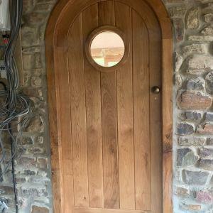 Curved Oak Door