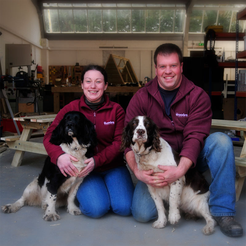 Laura and Dean and the two Dogs