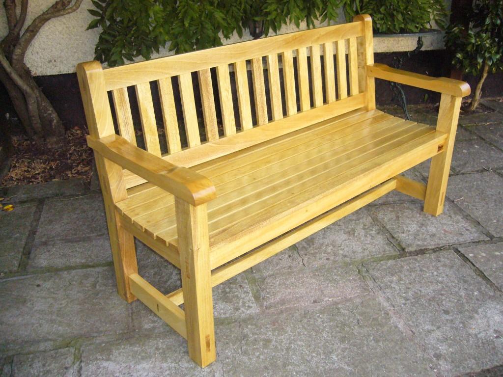 Hardwood garden bench - The Wooden workshop, Bampton, Tiverton