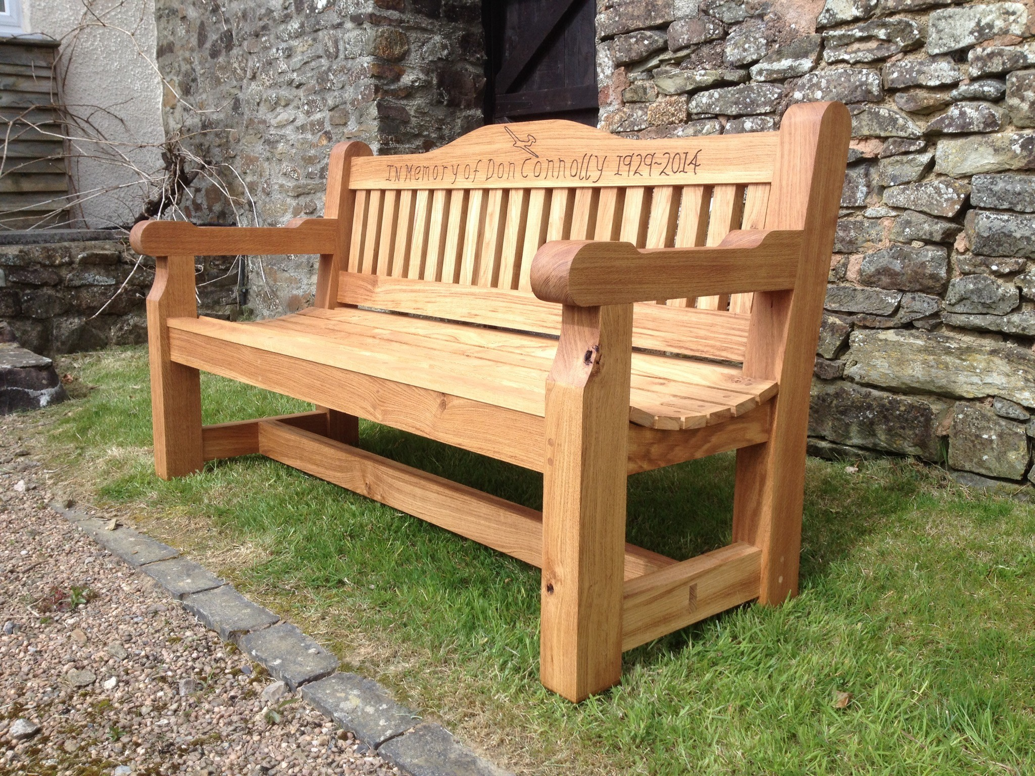 Chunky Oak Bench - The Wooden Workshop, Oakford Devon