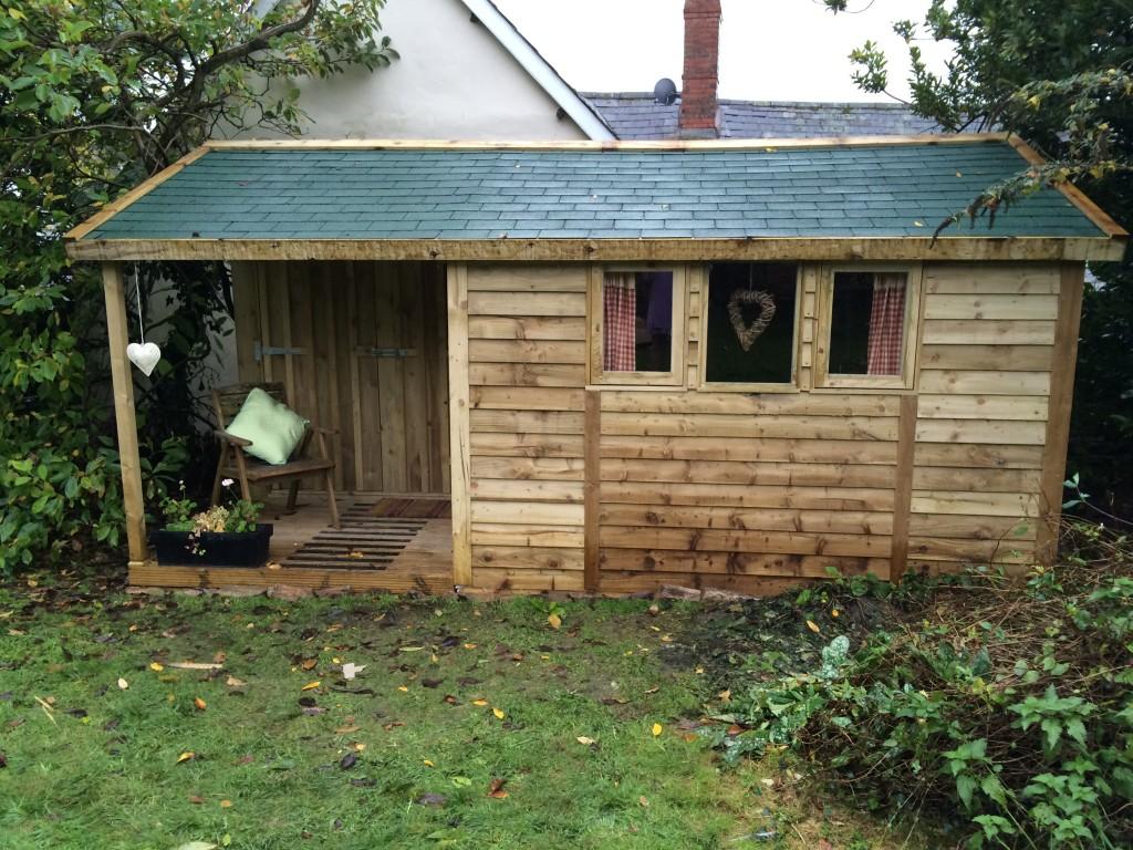 Garden Office felt shingles - The Wooden Workshop, Bampton, Devon