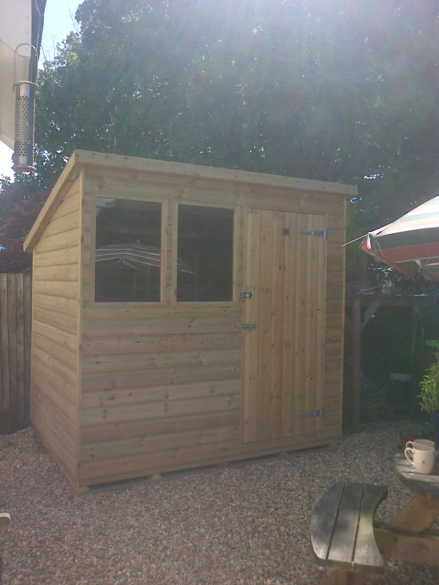 single pitched garden sheds