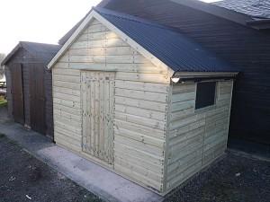 10ft x 8ft wooden garden sheds handmade Bampton Devon
