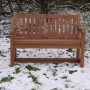 4ft Hardwood Garden bench handmade Bampton Exmoor Devon