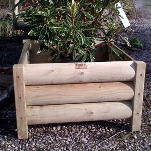 Garden Log Planter Square Handmade Exmoor Bampton Devon