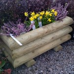 Garden Log Planter - Large Handmade Bampton Devon