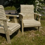 Bespoke Chunky Roll Top Garden Chairs - The Wooden Workshop Bampton Devon