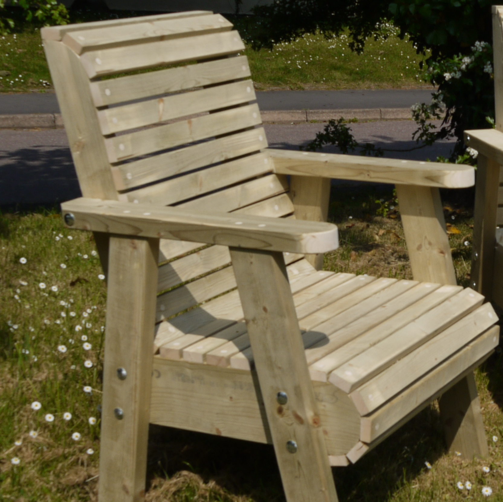 Roll top garden chair