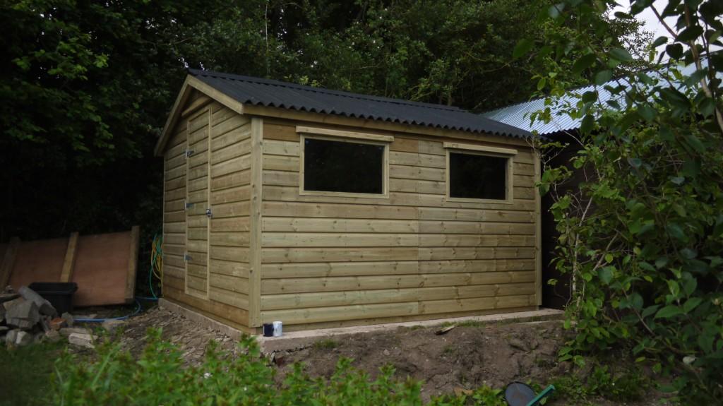Garden Shed 10ft X 11ft The Wooden Workshop Oakford Devon