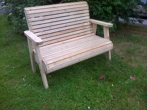 Roll top bench - garden furniture - the wooden workshop bampton devon