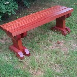 Sapele Hardwood Garden Bench - The Wooden Workshop Bampton Devon