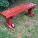 Sapele Hardwood Garden Bench - Garden Furniture - The Wooden Workshop Bampton Devon