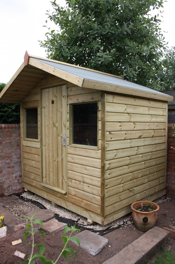 8ft x 6ft Shed With Overhang - The Wooden Workshop Bampton Devon
