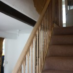 banister rail and spindles