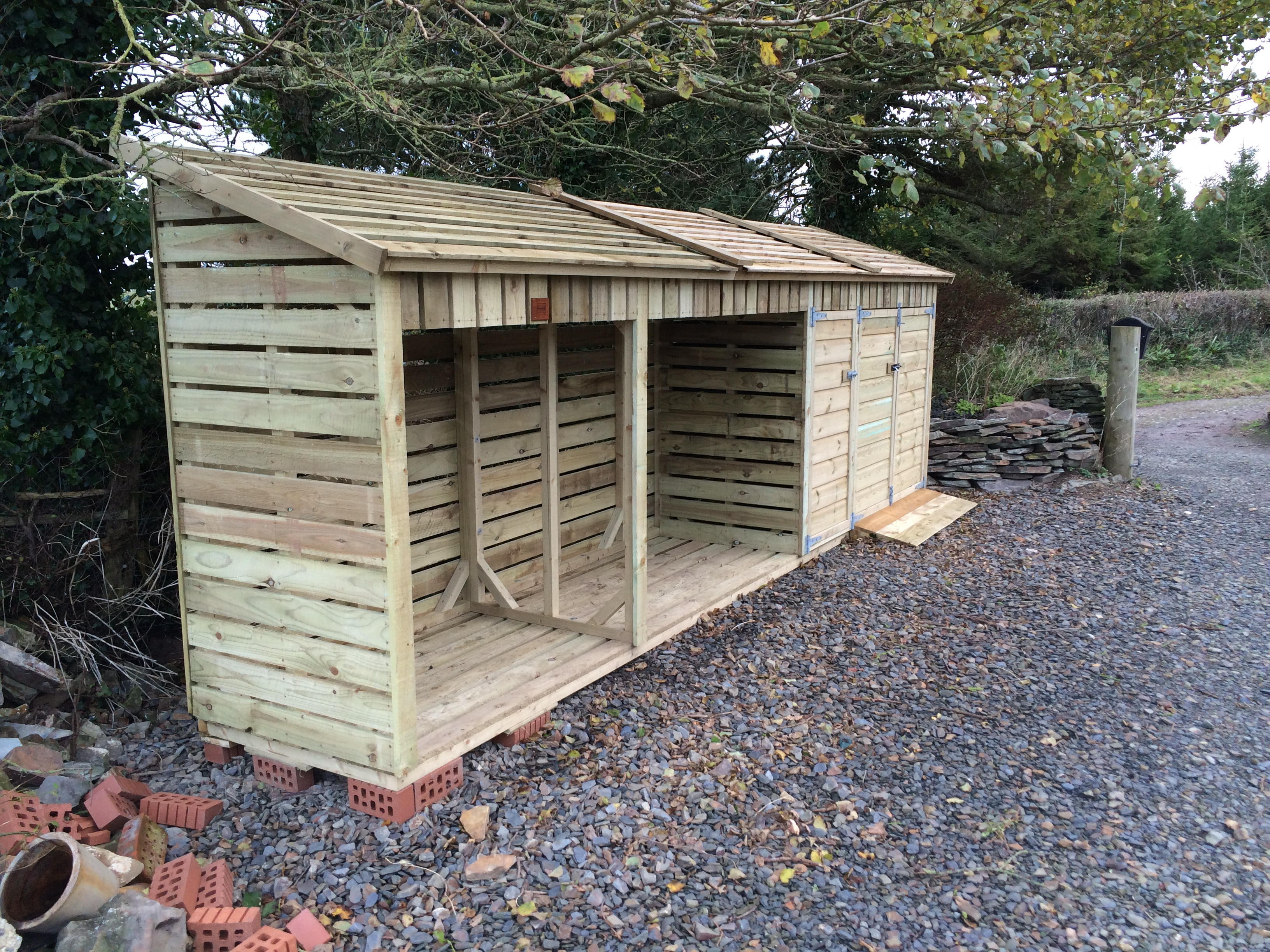 Combined Wheelie Bin Storage With Log Store The Wooden
