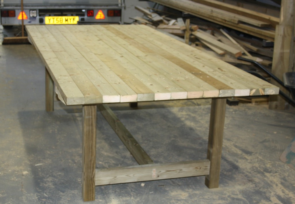 Garden Tables The Wooden Workshop Oakford Devon