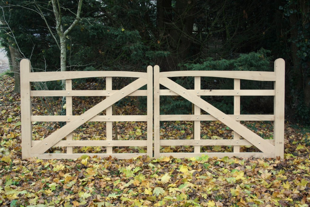 Oak Driveway Gates The Wooden Workshop Oakford Devon