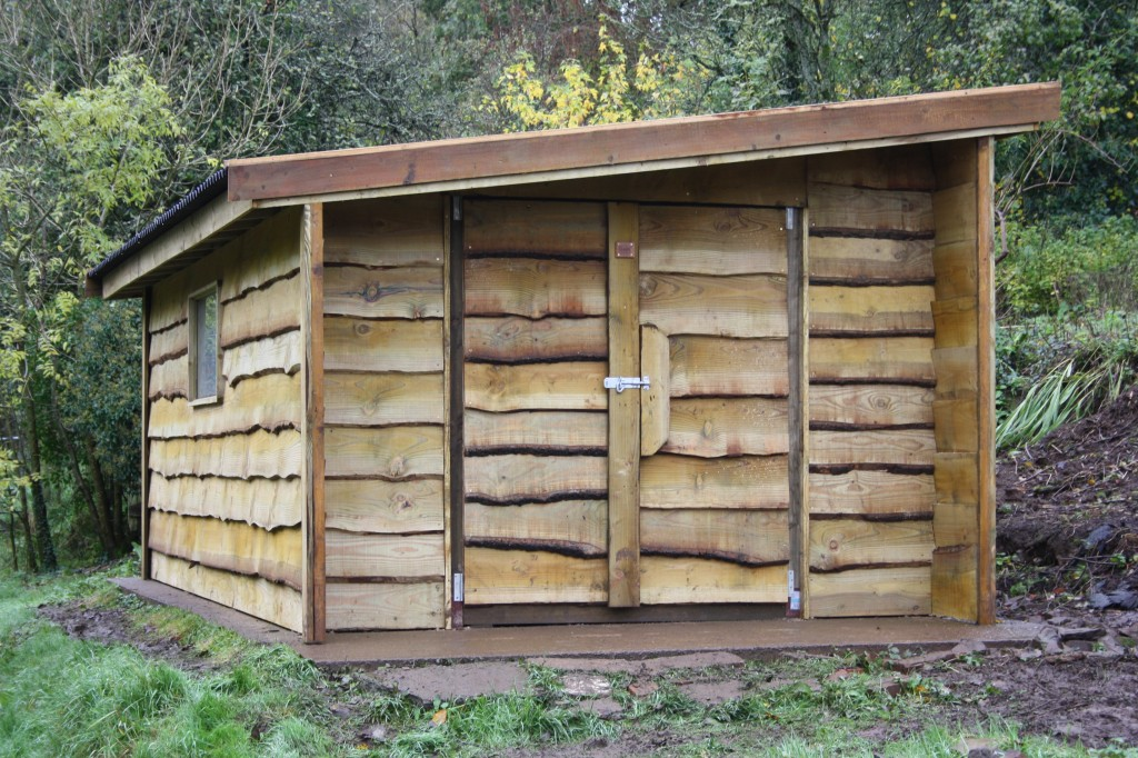 Waney Edge Rustic Shed The Wooden Workshop Oakford Devon