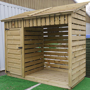 3m Log Store With Kindling Cupboard Standard The Wooden