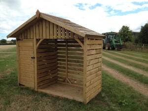 Exmoor Log Store - The Wooden Workshop Bampton Devon