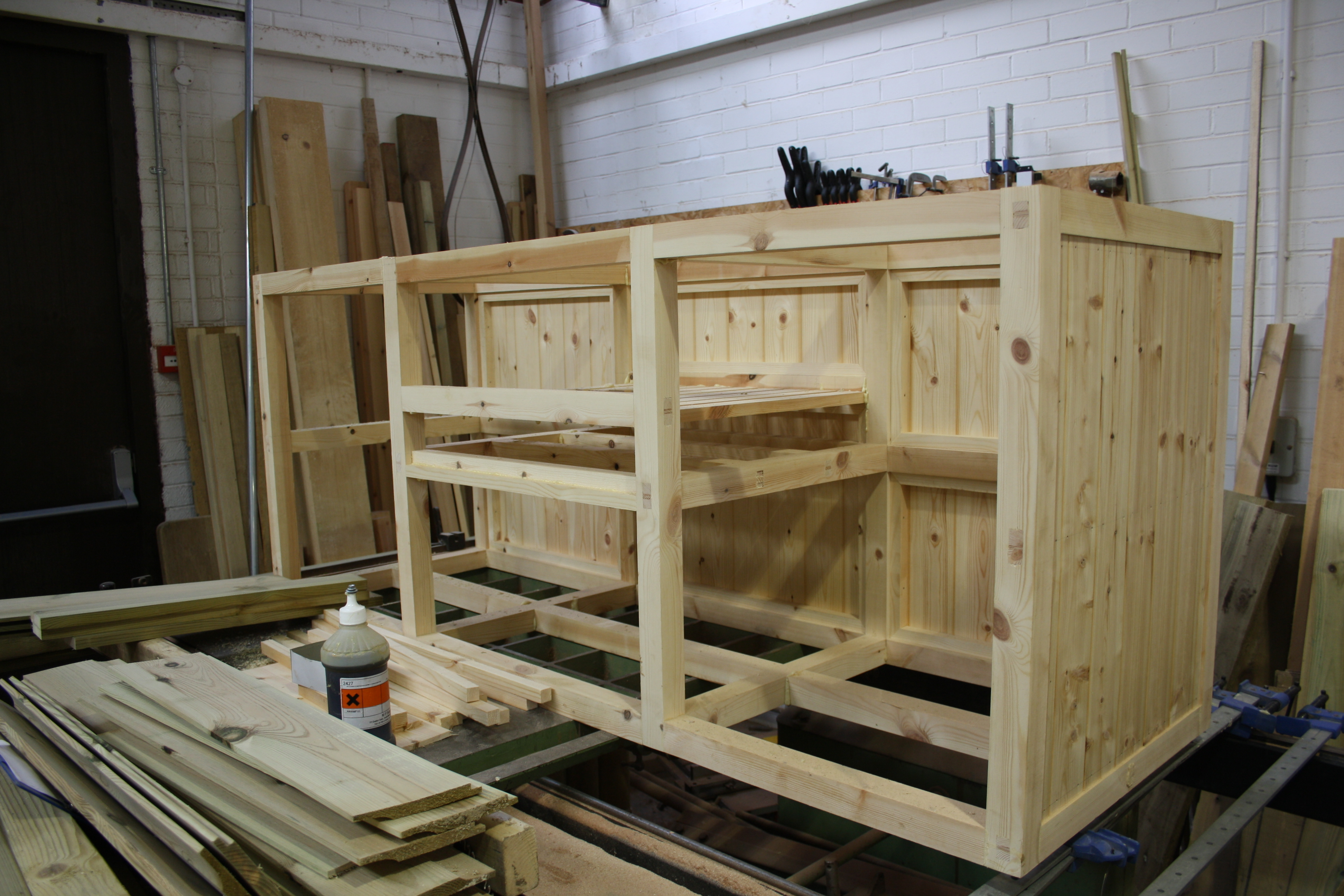 Sink Unit Framework The Wooden Workshop Bampton Devon