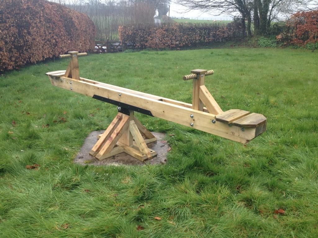 Playground Seesaw The Wooden Workshop Oakford Devon