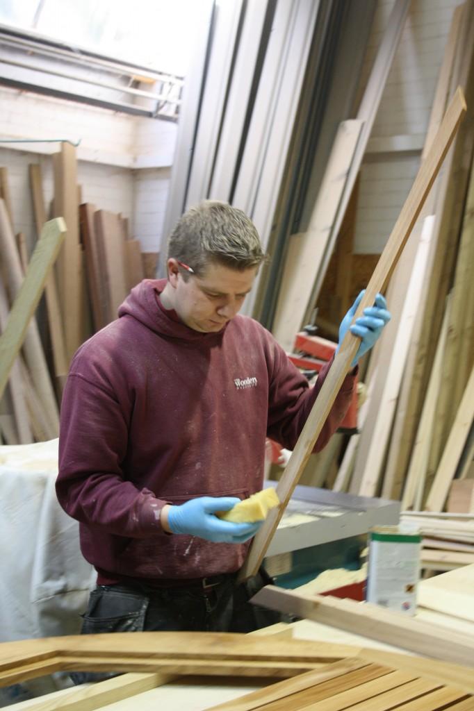 Oiling Table Slats The Wooden Wokshop Bampton Devon