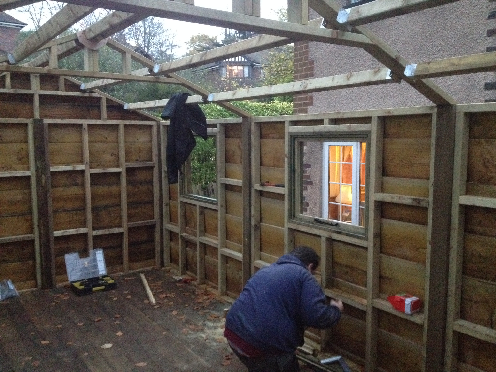 Waney Edge Shed Build The Wooden Workshop Oakford Devon
