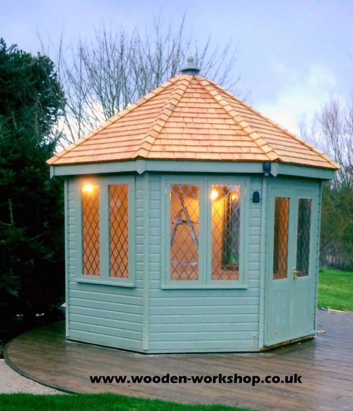 Octagonal Summerhouse The Wooden Workshop Oakford Devon