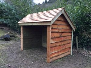 Sheep field shelter, The Wooden Workshop, Oakford, Devon.
