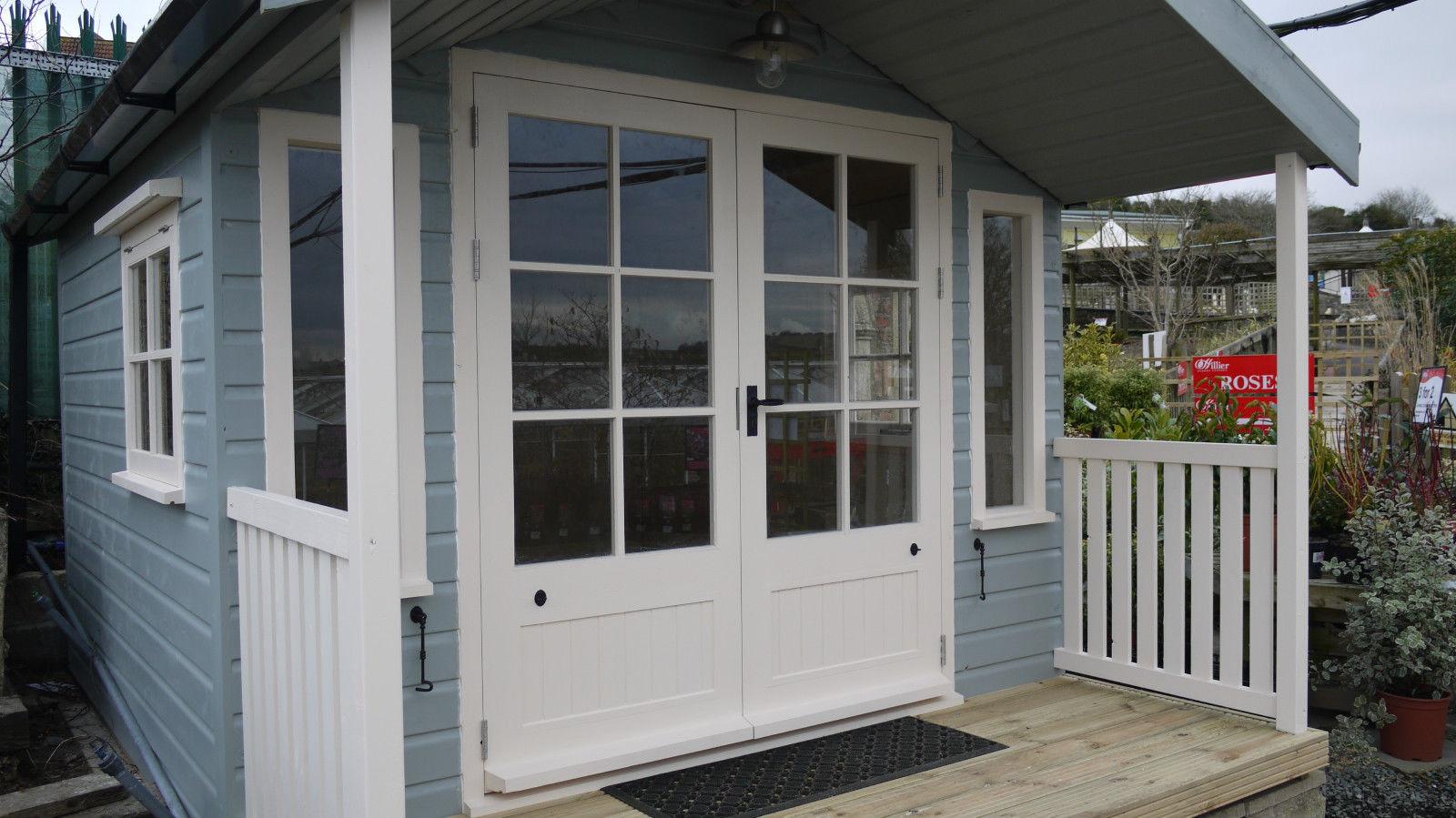 Glazed Doors & Veranda Summer House | The Wooden Workshop | Oakford Devon