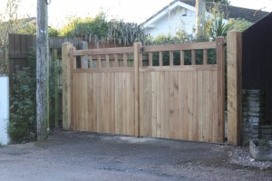Oak Square top gates - The Wooden Workshop