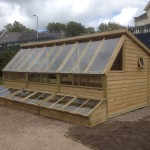 Large accessible potting shed. The Wooden Workshop, Oakford, Tiverton, Devon, The Wooden Workshop