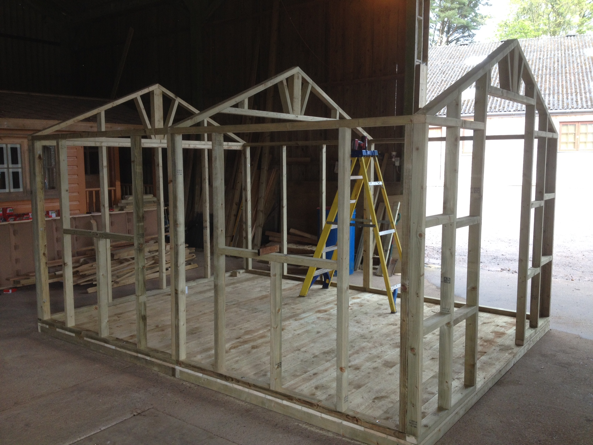 potting shed framework  the wooden workshop  oakford