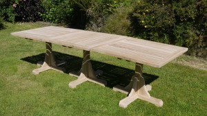 Interlocking outdoor table set
