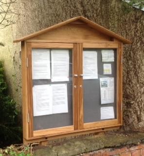 Pitched Notice Board The Wooden Workshop Oakford Devon