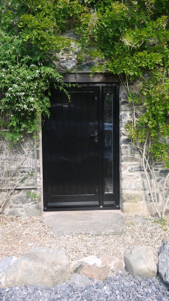 Security Door With Glazed Panel The Wooden Workshop