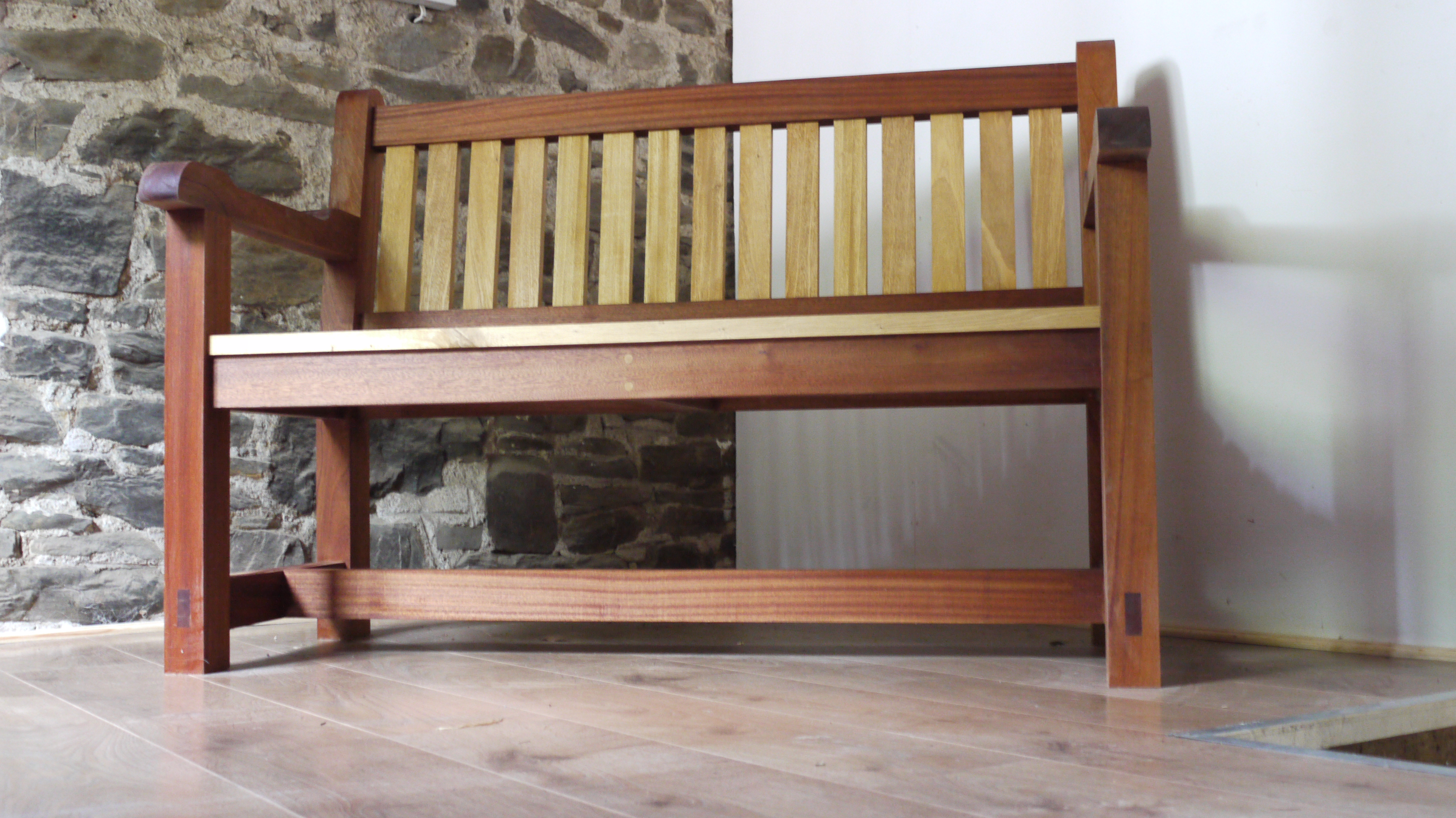 Dual Colour Bench, The Wooden Workshop, Oakford, Devon (18)