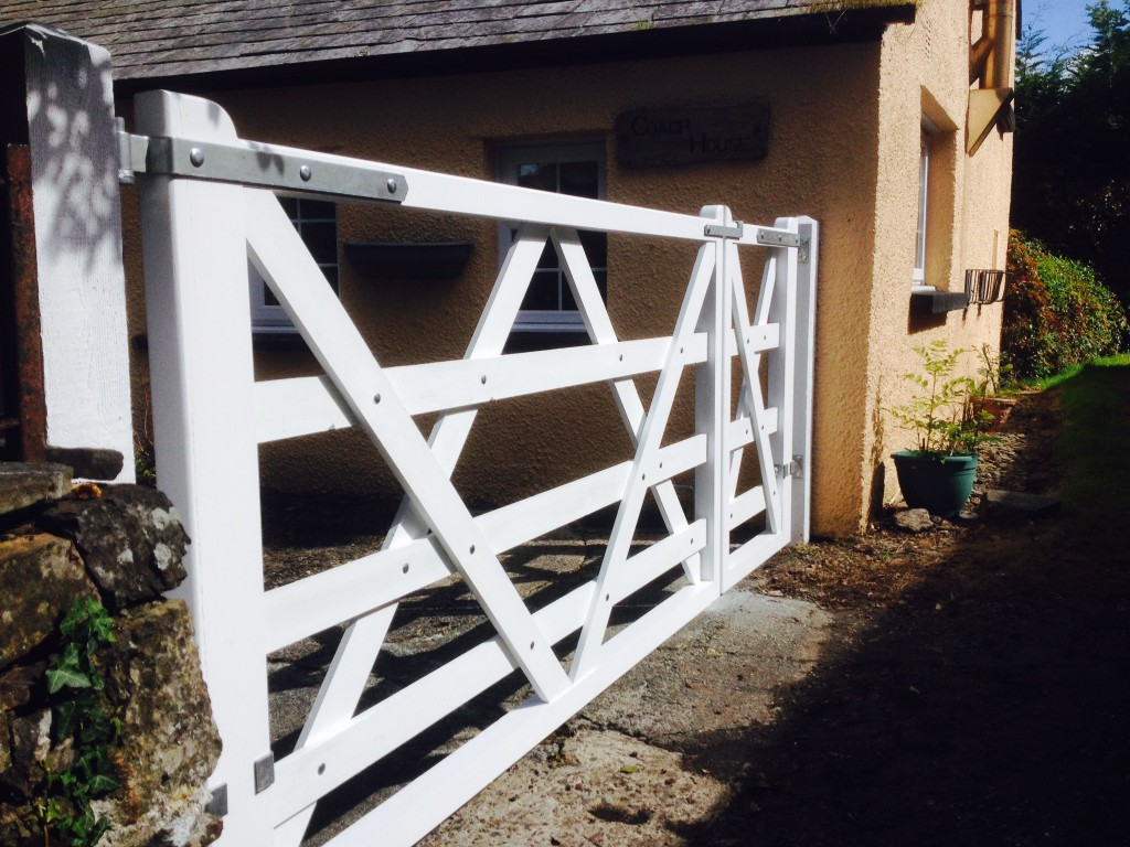 Diamond Braced Gates - The Wooden Workshop Oakford Devon