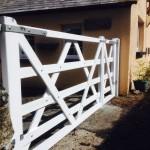 Diamond Braced Gates - The Wooden Workshop Oakford Devon