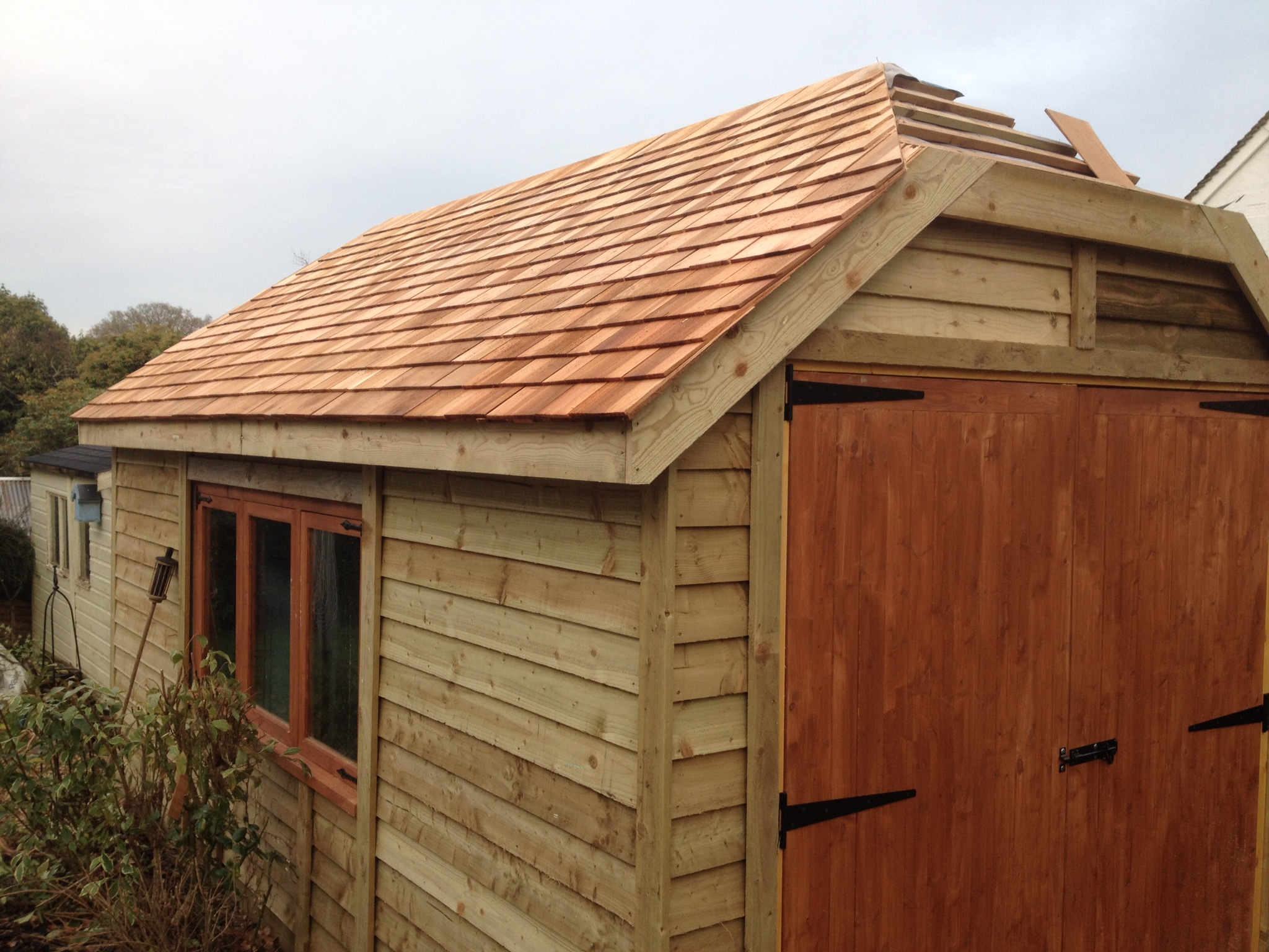 Hipped Roof Garage The Wooden Workshop Oakford Devon 3