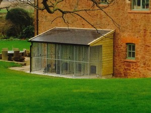 slate roof dog kennels