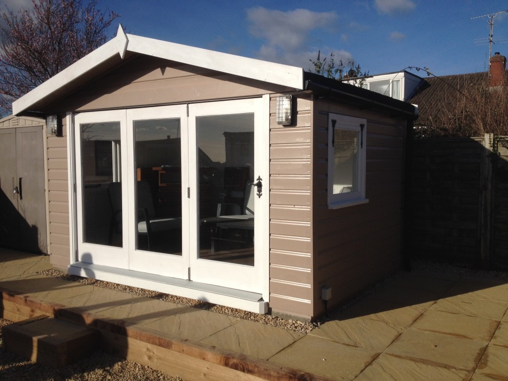 Summerhouse With Bi Fold Doors The Wooden Workshop