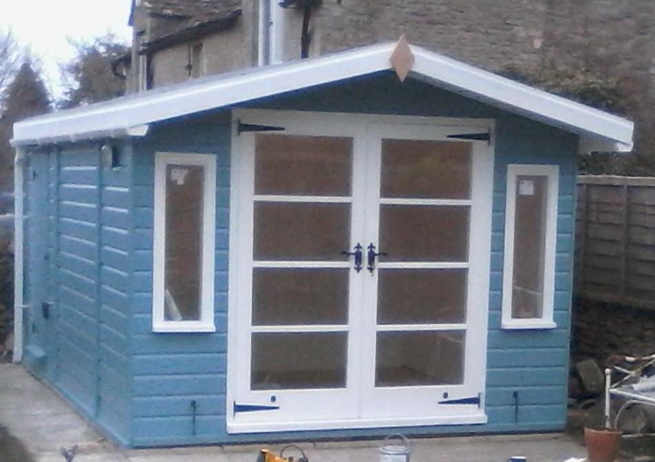 Double Doors Summerhouse Shed The Wooden Workshop Oakford Devon
