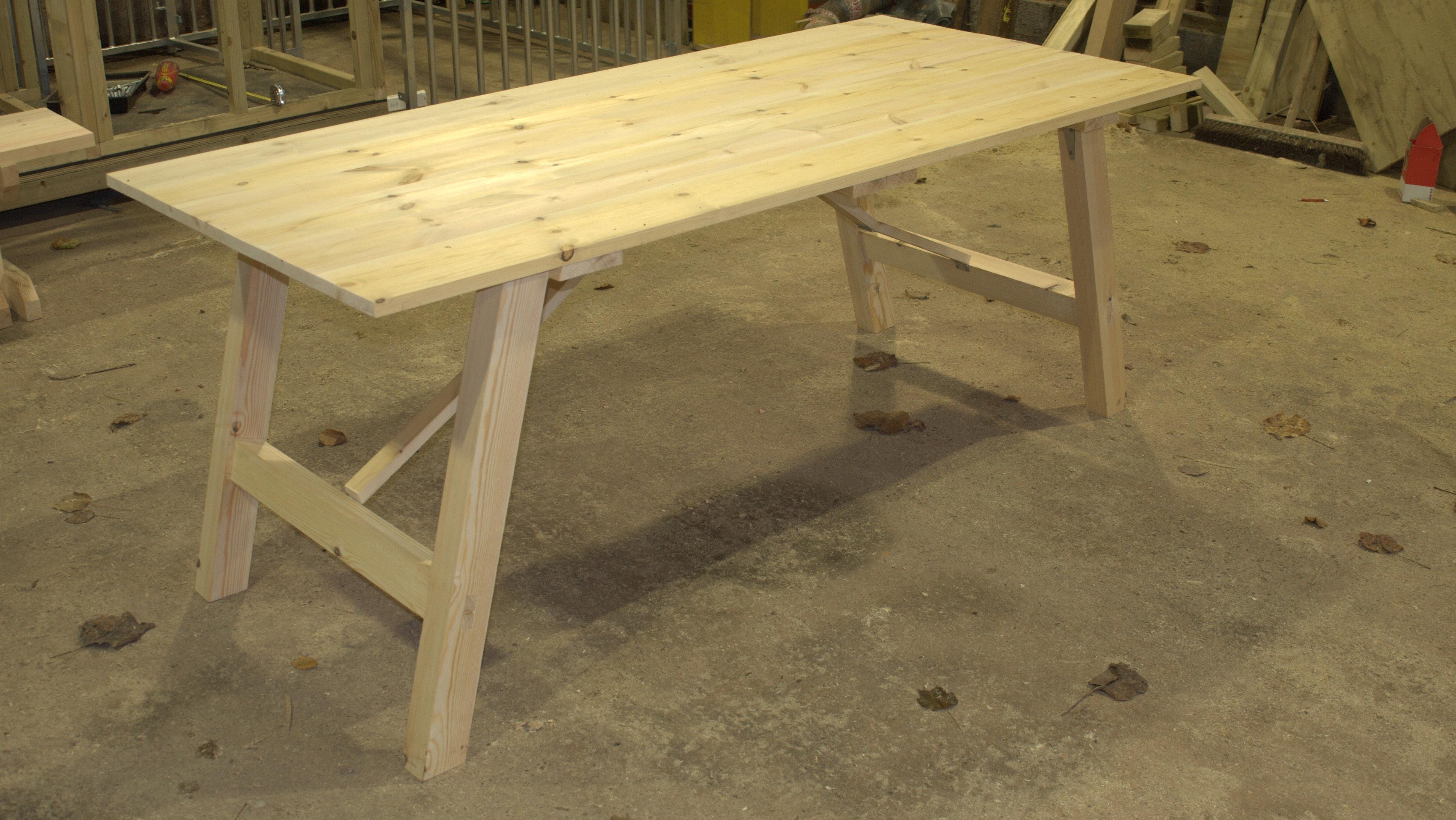 Redwood Trestle Table The Wooden Workshop Oakford Devon