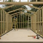Framework - Timber Framed Garage - The Wooden Workshop Oakford Devon