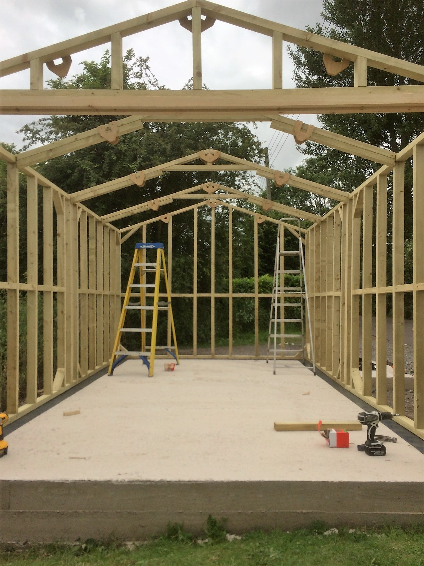 Construction U0026 Installation. Framework   Timber Framed Garage ...