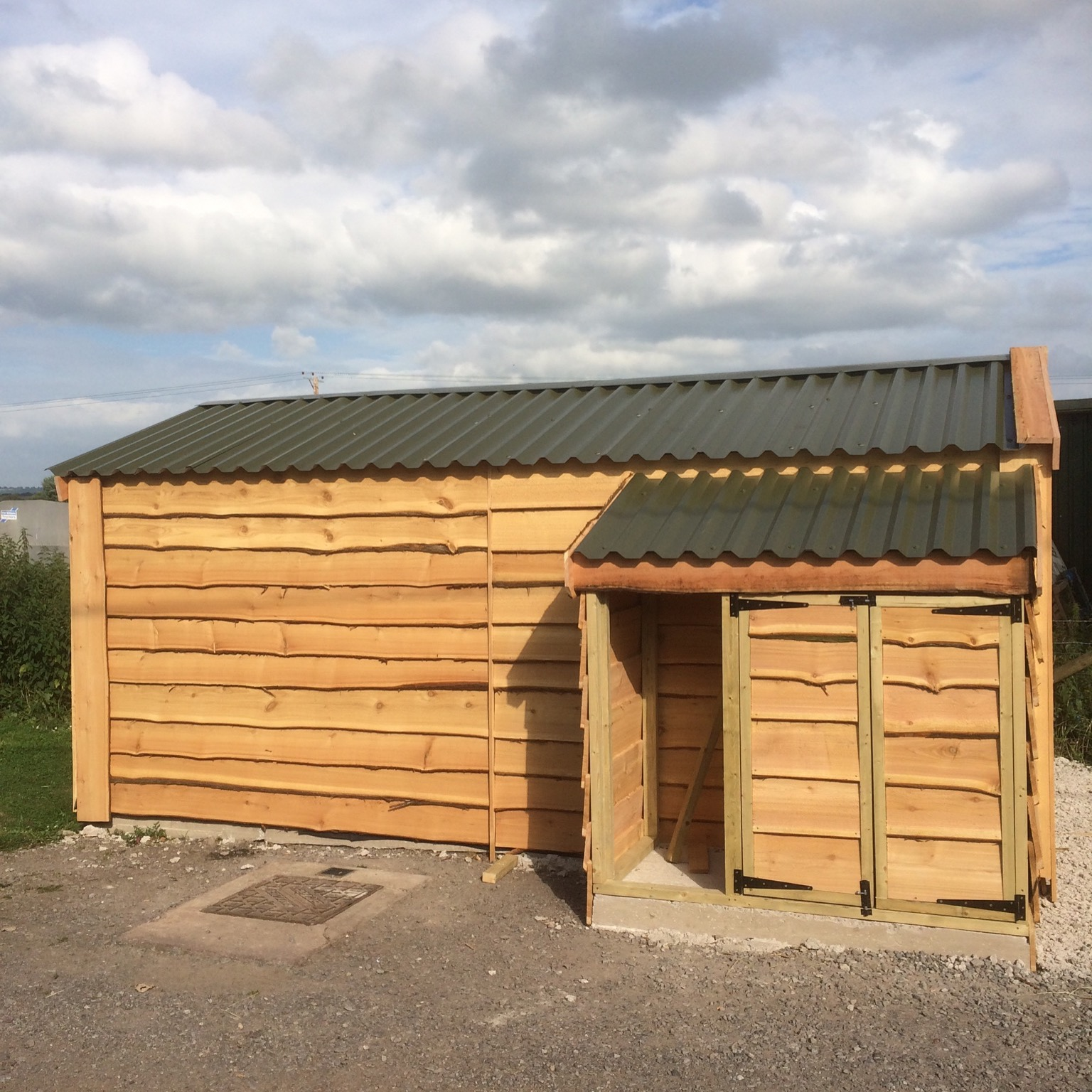 Log store and Timber Garage - The Wooden Workshop Oakford Devon