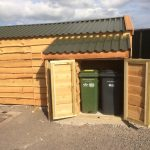 Wheelie bin storage - The Wooden Workshop oakford Devon