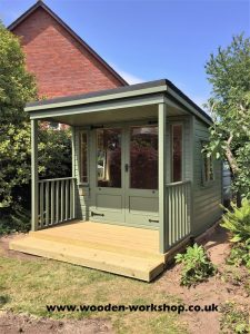 Summerhouse with single pitched roof